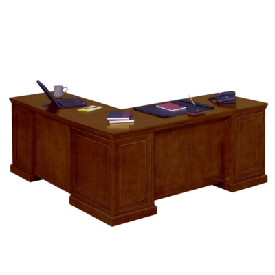 Great Statesman Executive L Desk With Right Return, 13169