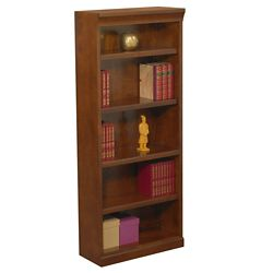 "Statesman 72"" H Five Shelf Veneer Bookcase"