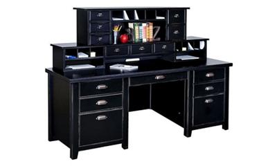 "Two Hutch Home Office Desk - 68.25""W x 32""D"