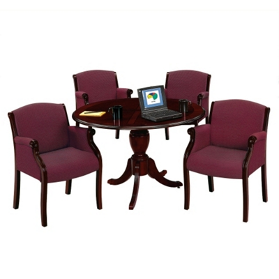 "Keswick 48"" Round Conference Table and 4 Guest Chairs"