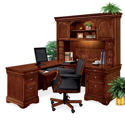Left Return L-Desk with Hutch