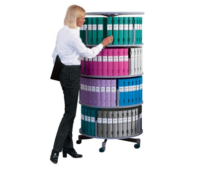 Binder Carousel with 4 Tiers and Casters