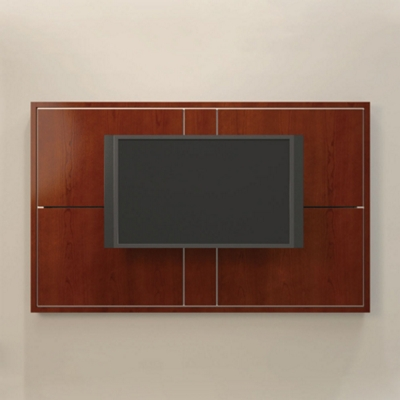 "74""W Four Panel Media Wall"