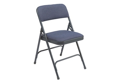 Folding Chair with Double Hinged Fabric Seat & Back