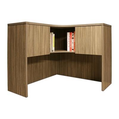 """Wood Grain Corner Desk Hutch - 42""""W"""