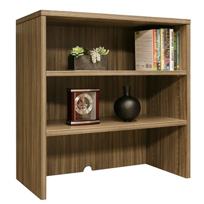 "Wood Grain Two Shelf Bookcase Hutch - 35.5""W"