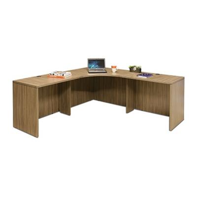 "Wood Grain Corner Desk - 77.5""W"