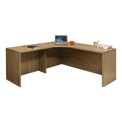 "Wood Grain Corner L-Desk with Left Return - 71""W"