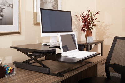 Bi-Level Desktop Riser with Keyboard Surface