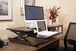 Bi-Level Desktop Riser with Keyboard Surface