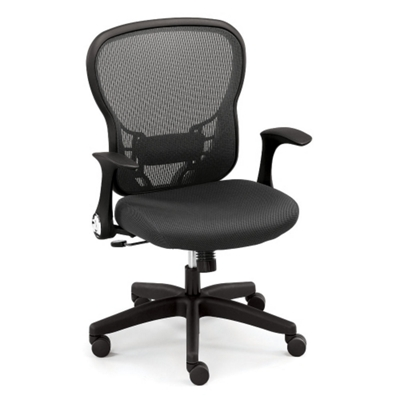 Linear Mesh Office Chair with Memory Foam