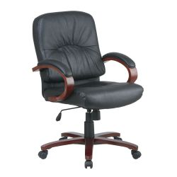 Mid Back Genuine Leather Executive Chair