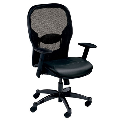 Bonded Leather Seat Mesh Back Task Chair