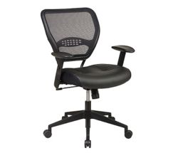 Bonded Leather Mesh Back Task Chair