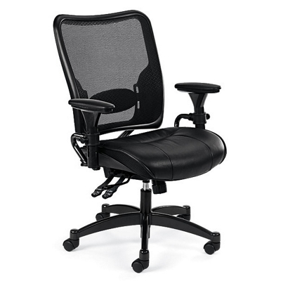 ergonomic chair with leather seat and mesh back and more lifetime guarantee - Ergonomic Chair