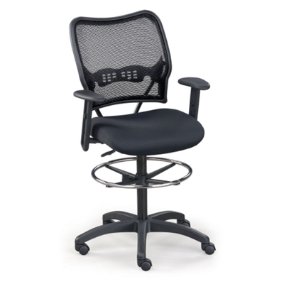 Mesh Stool With Arms. Brand: Office Star