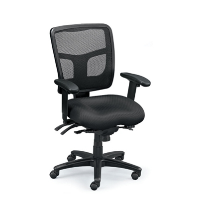 midback mesh chair with seat slider