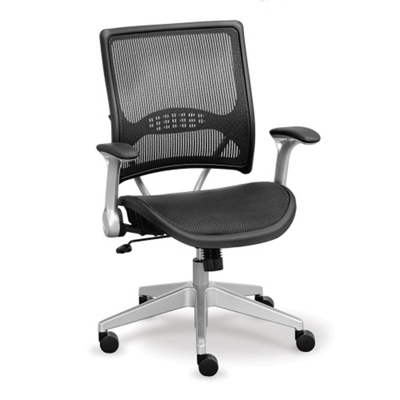 Linear Collection Mesh Chair with Mesh Seat