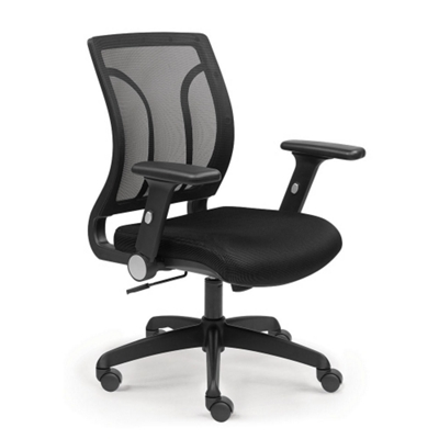 Essential Mesh Back Chair with Flip Arms and Memory Foam Seat