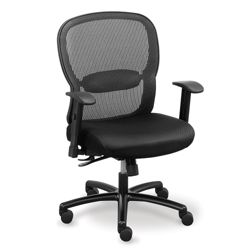 Linear Mesh Back Big and Tall Chair with Memory Foam Fabric Seat