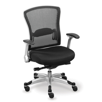 Linear Collection Mesh-Back Chair with Memory Foam Seat