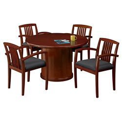 "48"" Round Conference Table with 4 Side Chairs"