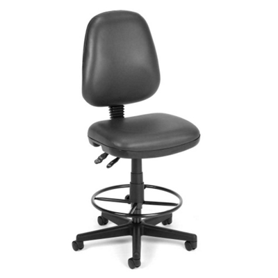 Vinyl Task Chair with Foot Rest