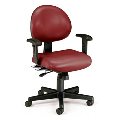24 Hour Vinyl Task Chair with Arms