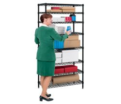 "Storage Unit with Eight Wire Shelves - 36""W x 18""D"