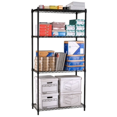 "Storage Unit with Four  Wire Shelves - 48""W x 24""D"
