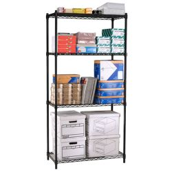 Storage Unit with 4 Wire Shelves