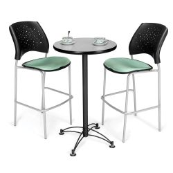 Round Cafe Table with Two Stools