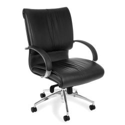 Sharp Series Mid-Back Leather Chair