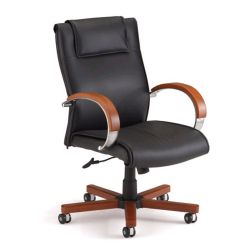 Apex High Grade Leather Mid-Back Chair