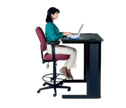 Mid Back Ergonomic Stool with Arms