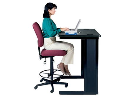 Mid Back Armless Ergonomic Stool