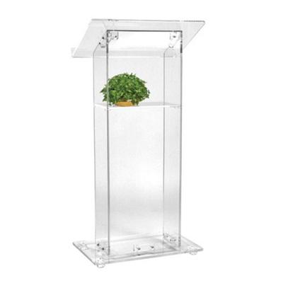 Acrylic Lectern with Shelf