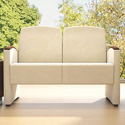 Behavioral Health Vinyl Two-Seat Guest Chair