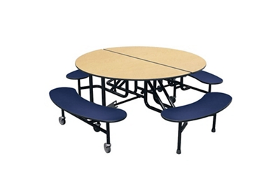 """Round 4 Bench Mobile Cafeteria Table - 27""""H"""