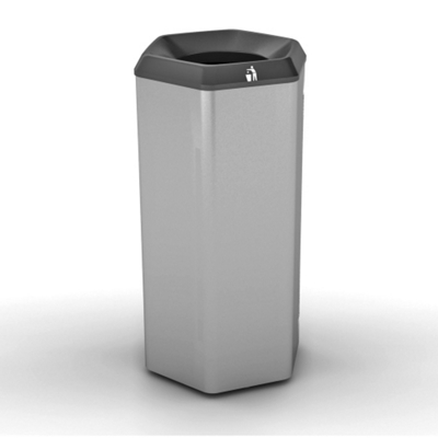 Peter Pepper 12gal Recycle Bin with Hole Top