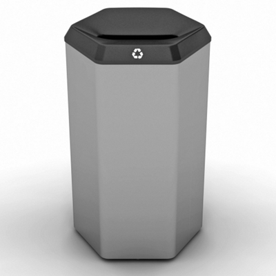 Peter Pepper 22gal Recycle Bin with Slot Top