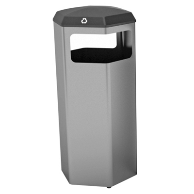 Peter Pepper 37gal Recycle and Waste Bin with Rain