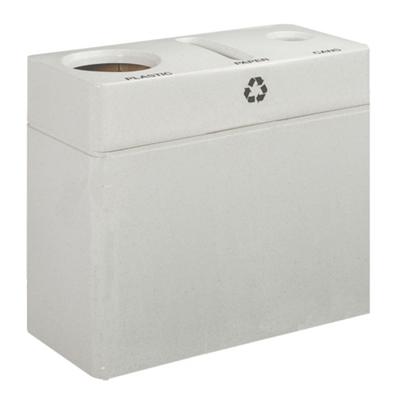 "Model 1037 - 32""h Fiberglass Recycling Center with"