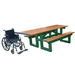 ADA Accessible 8' W Easy Access Picnic Table