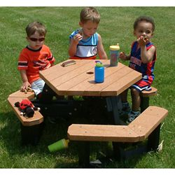 Child Size Hexagon Picnic Table