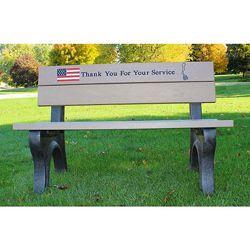 4' Veterans Memorial Bench