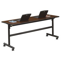 "Merit Flip Top Training Table with Casters - 72""W x 24""D"