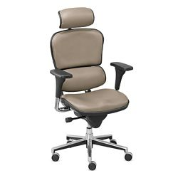 Upholstered Executive Chair with Headrest - Hundreds of Colors Available