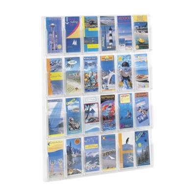 Clear Plastic 24 Pocket Pamphlet Rack