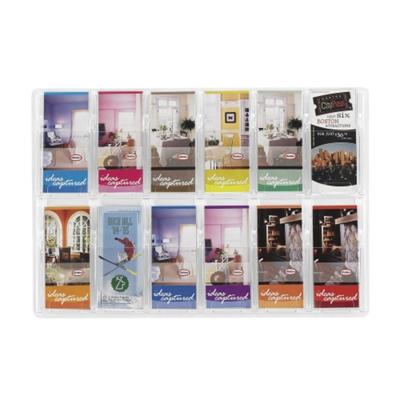 Clear Plastic Twelve Pocket Pamphlet Rack